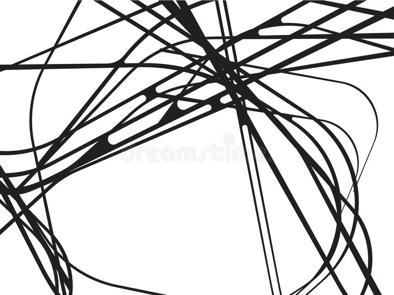 Abstract curved waves background black and white. Abstract curved waves background black white royalty free illustration