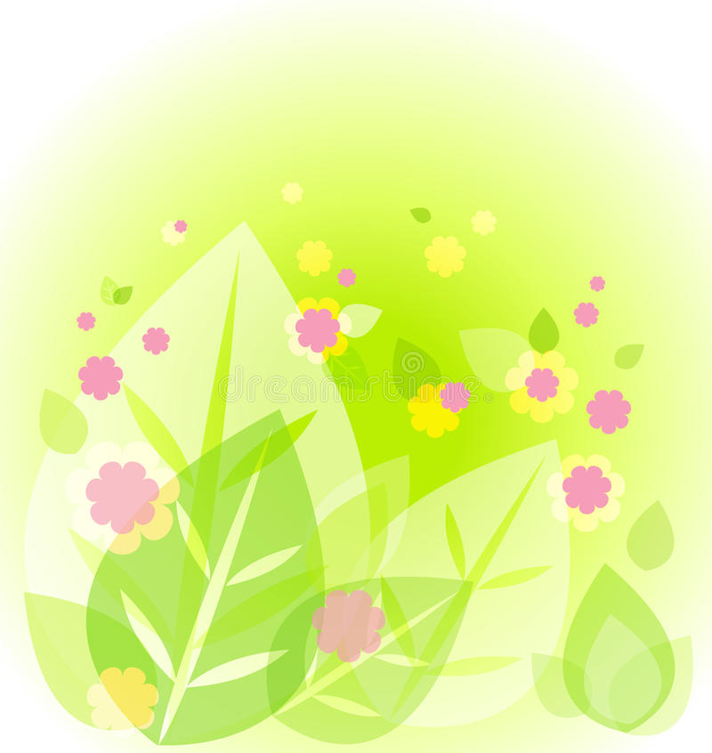 Abstract cute green background royalty free illustration