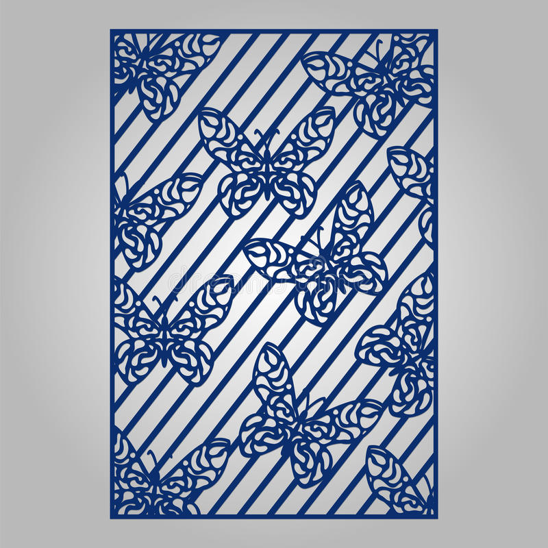 Abstract cutout panel for laser cutting die cutting or stencil abstract cutout panel for laser cutting die cutting or stencil vector filigree pattern for wedding invitation card stopboris Choice Image