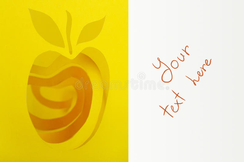 Download Abstract Cutout Yellow Apple And Rind Stock Photo - Image: 17070558