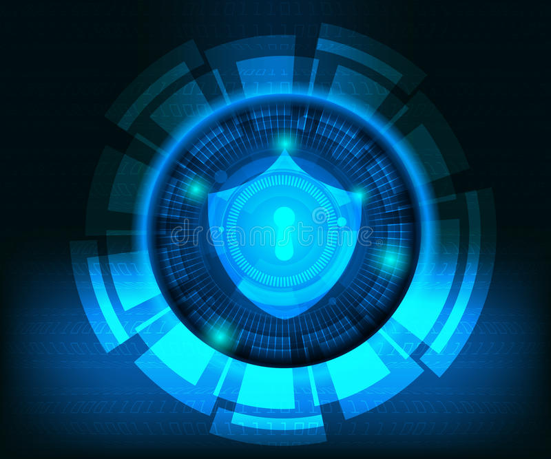 Abstract cyber secutiry technology background vector illustration