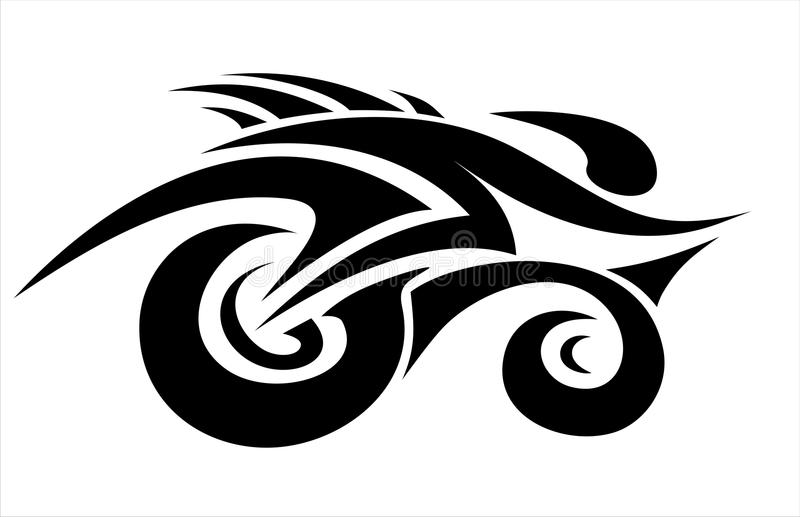 Abstract cyclist vector illustration