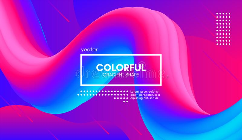 Abstract 3d Background. Colorful Wave Fluid Shape. royalty free illustration