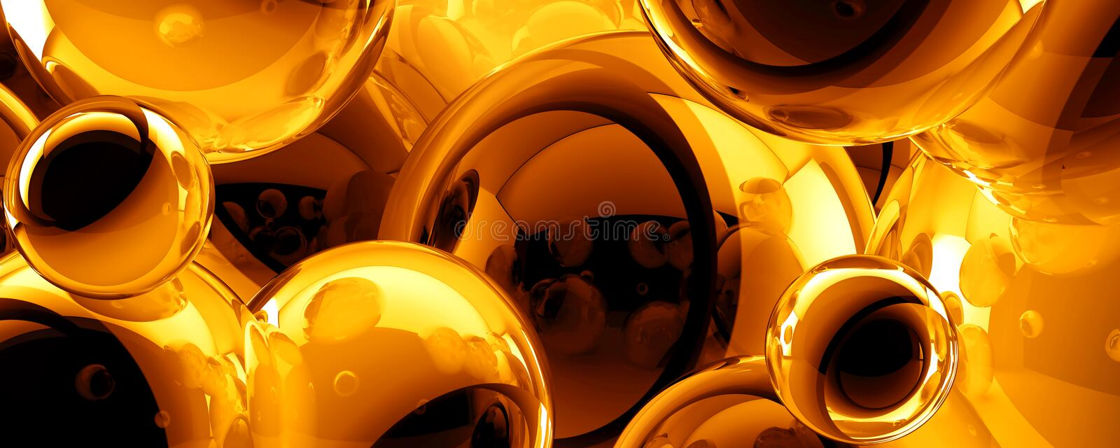 Abstract 3D balls background royalty free illustration