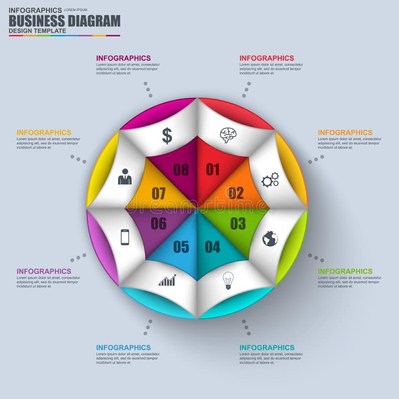 Abstract 3D bedrijfsdiagram Infographic vector illustratie