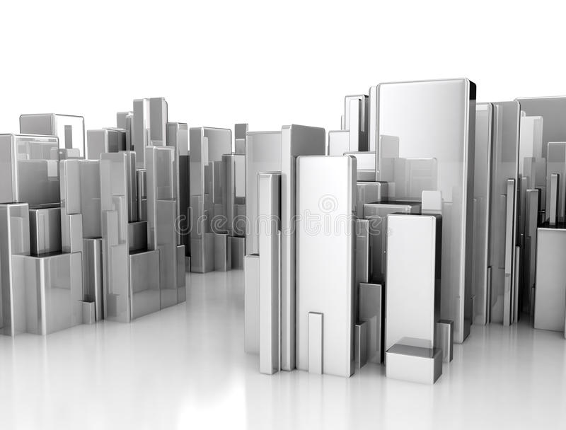 Abstract 3d city scape stock illustration