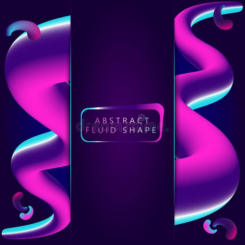 Abstract 3d colorful shapes. Colorful 3d blend.. Vibrant color gradient. Fluid color shapes background. vector illustration