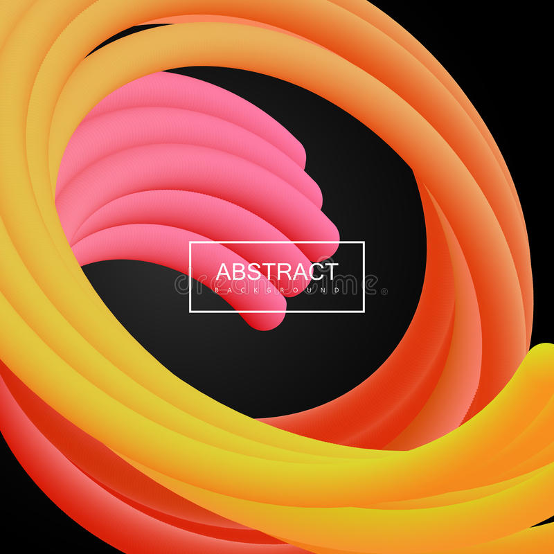 Abstract 3d liquid color tentacle shapes. royalty free illustration