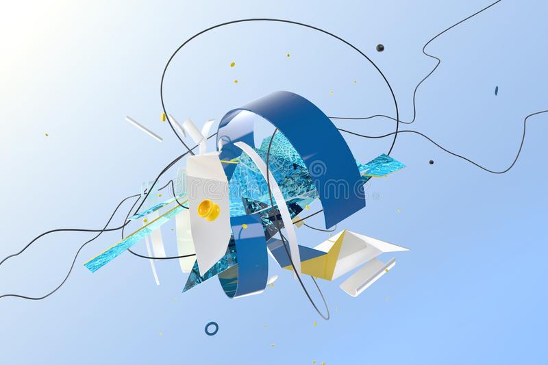 Abstract 3D composition stock photography