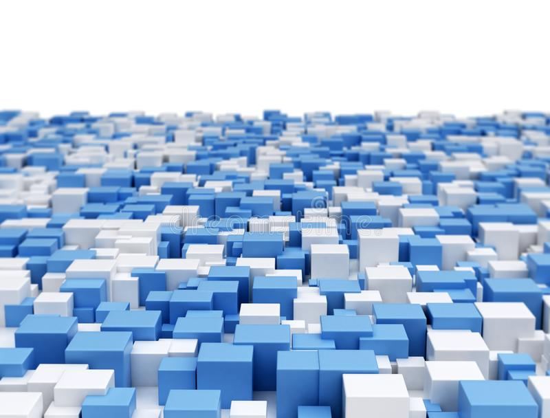 Abstract 3d cubes background stock images