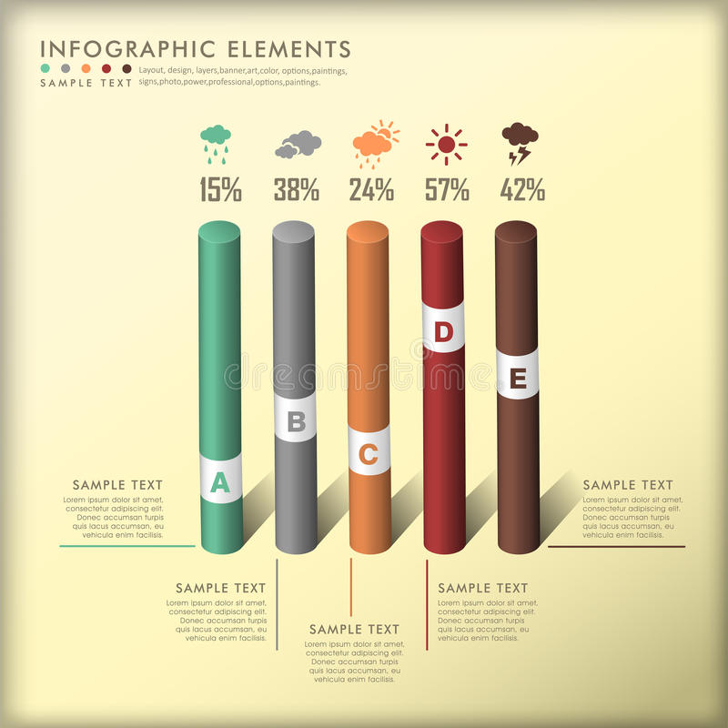 Download Abstract 3d Cylinder Infographics Stock Vector - Image: 35612203