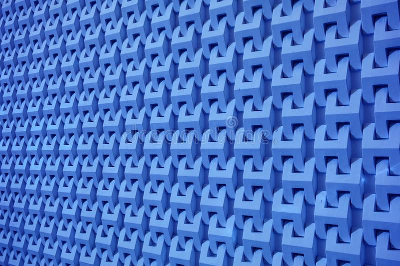 Abstract 3D decorative modern pattern of the outer wall for background stock image