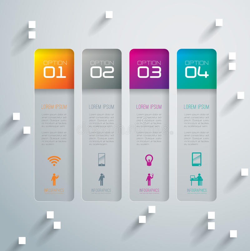 Abstract 3D digital illustration Infographic. stock illustration