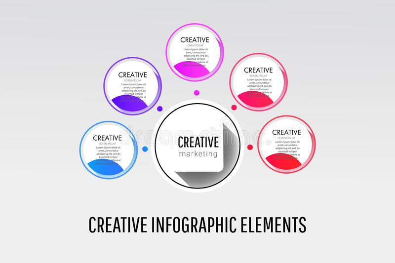 Abstract 3D digital illustration Infographic workflow layout, banner, number options, step up options, web design, diagram stock illustration