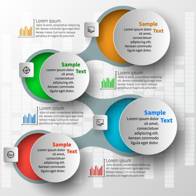 Abstract 3D Document Infographics vector illustratie