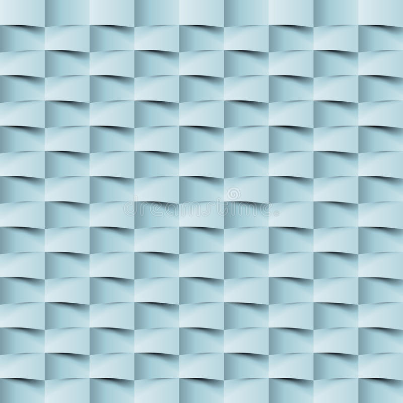 Abstract 3d geometric background. White seamless texture with shadow. Simple clean white background texture. 3D Vector interior wa stock illustration