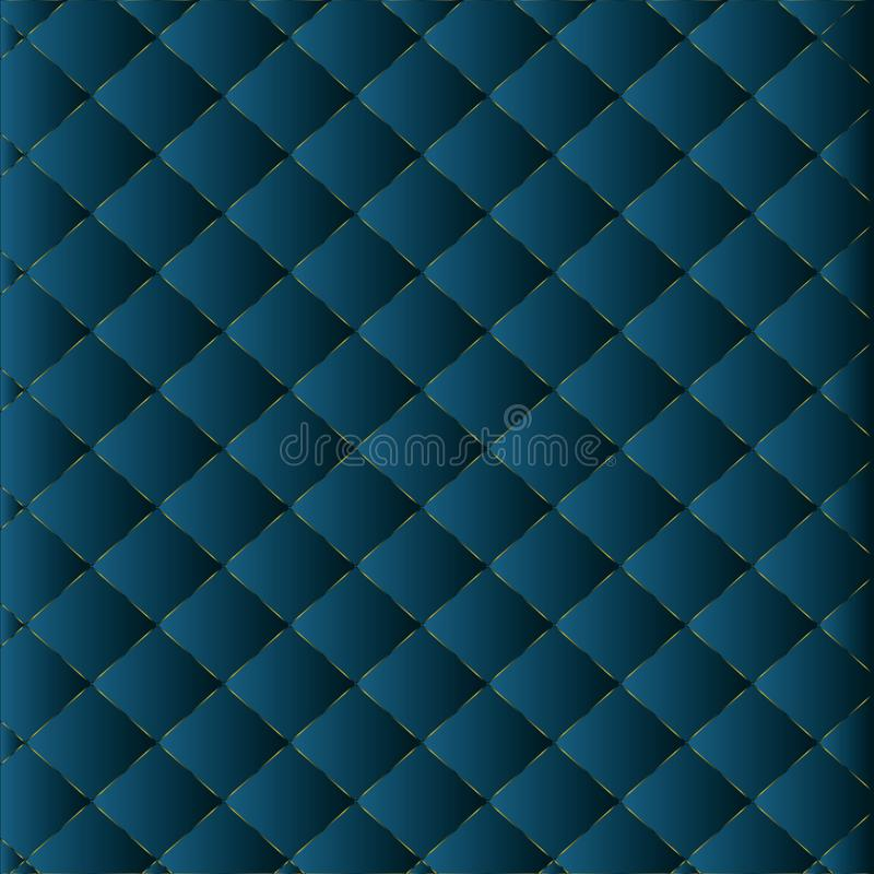 Abstract 3d geometric pattern luxury dark blue with gold royalty free illustration