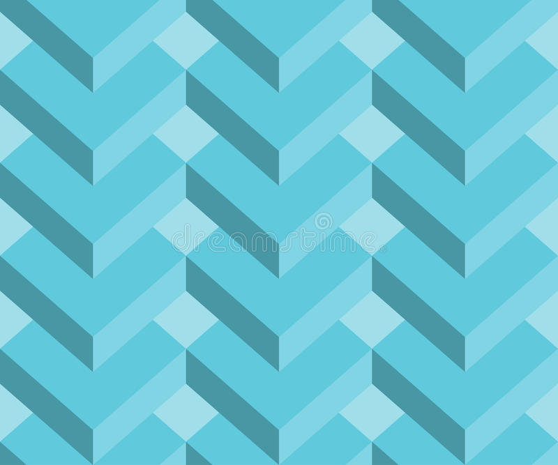 Abstract 3d geometric seamless pattern background, rectangles background. Vector illustration stock illustration