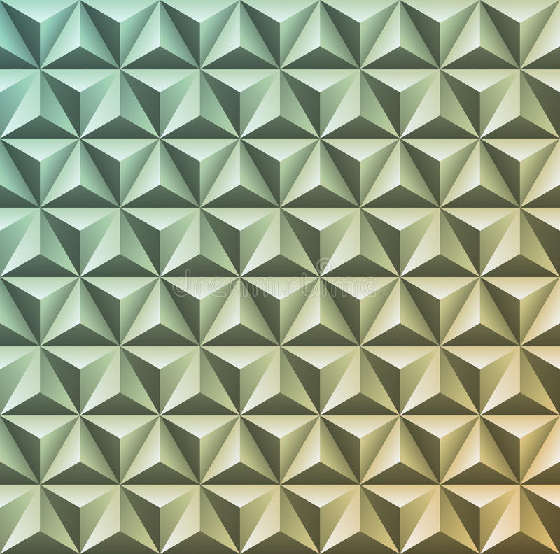 Abstract 3D geometric texture. Vector gradient pattern of triangles. Decorative plastic or metallic embossed background. Modern c vector illustration