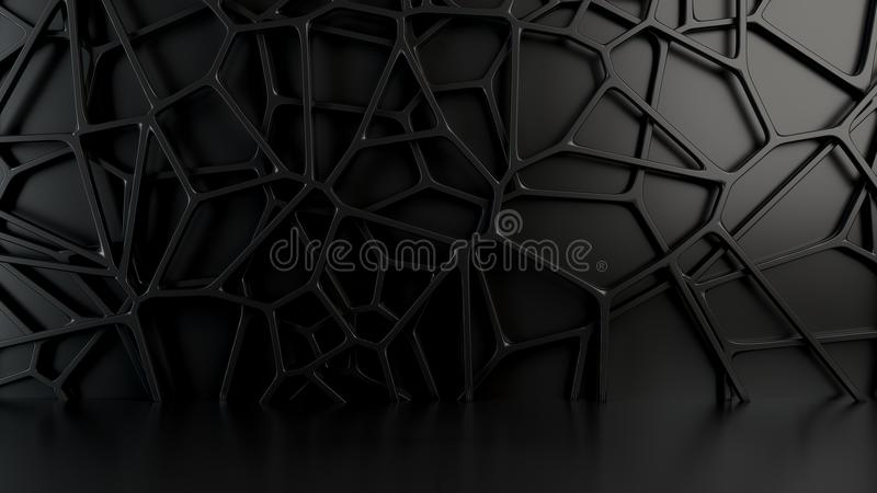 Abstract 3d grate on black background royalty free illustration
