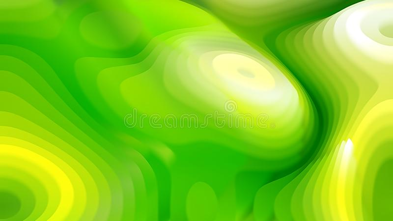 Abstract 3d Green and Yellow Curved Lines Ripple texture Beautiful elegant Illustration graphic art design Background. Image royalty free illustration
