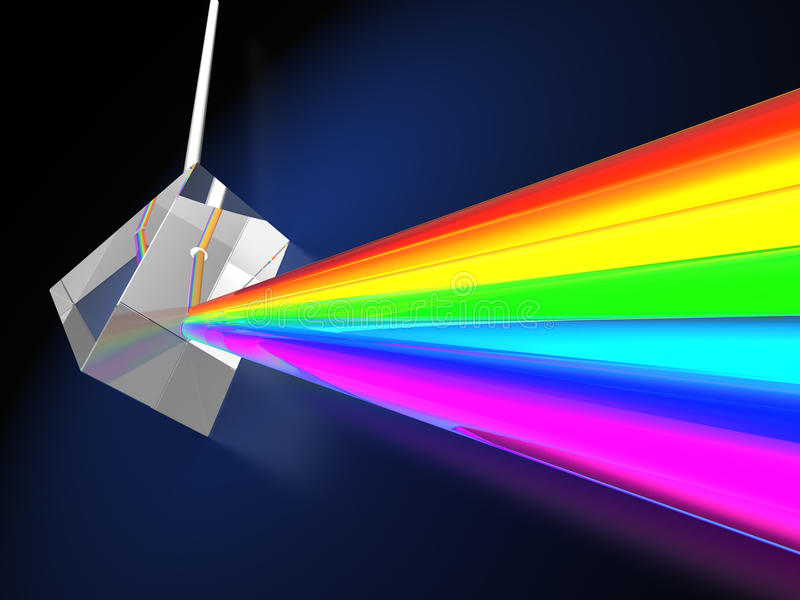 Download Prism with light spectrum stock illustration. Illustration of physics - 30132577