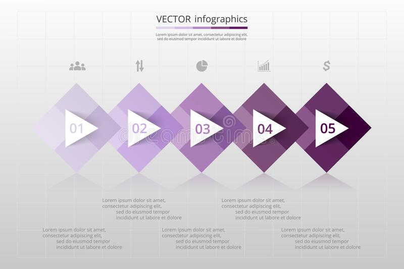 Abstract 3D Infographic-malplaatje royalty-vrije illustratie