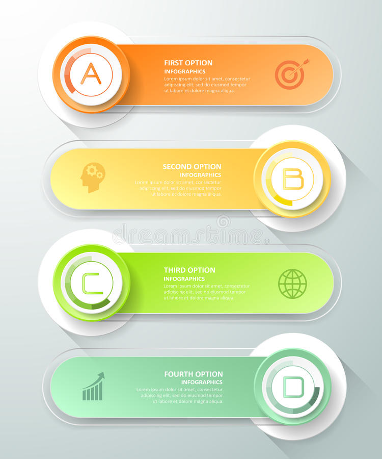 Abstract 3d infographic template 4 steps,. Can be used for workflow layout, diagram, number options, graphic or website layout royalty free illustration