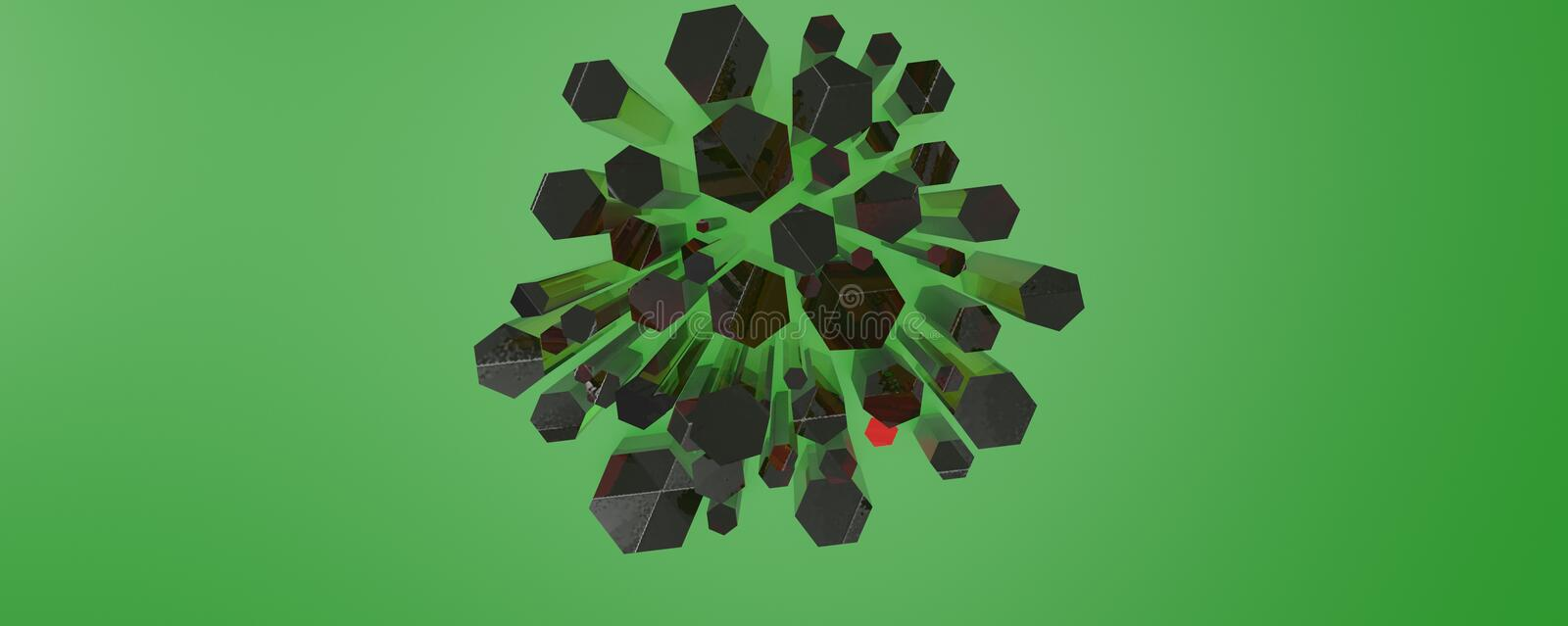 Abstract 3d model royalty-vrije stock afbeelding