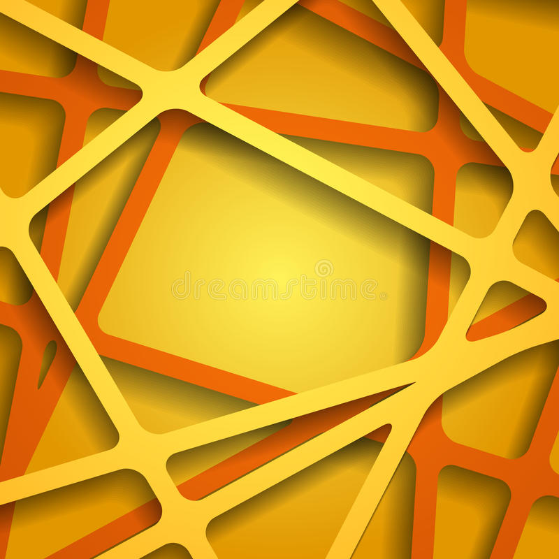 Abstract 3D Paper Graphics. Vector illustration stock illustration