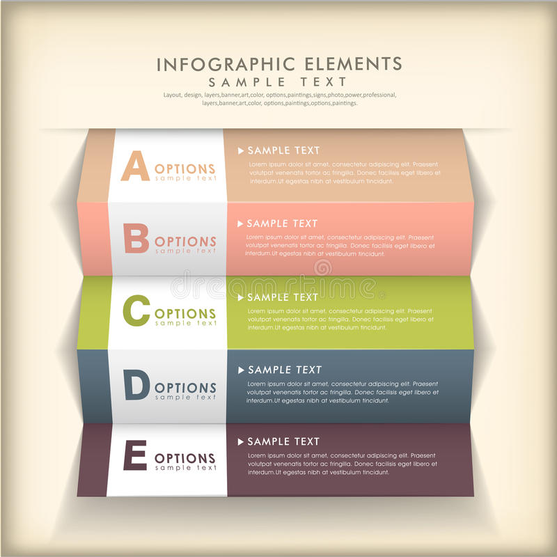 Download Abstract 3d Paper Infographics Stock Vector - Illustration: 35612171