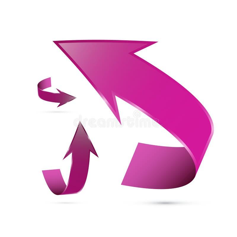 Abstract 3d Pijlpictogram vector illustratie