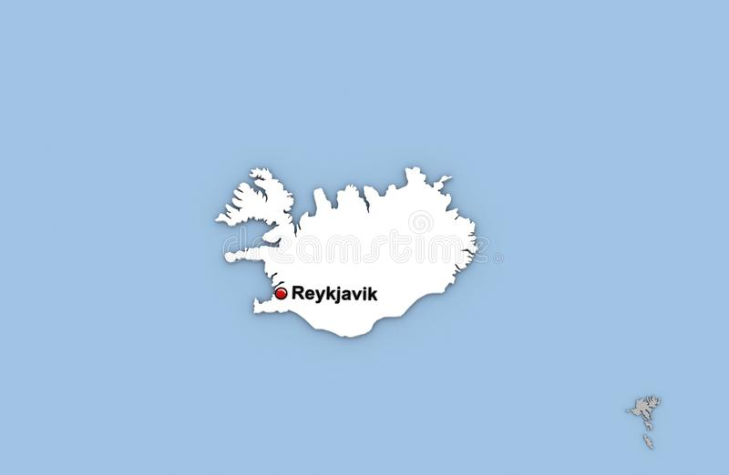 Abstract 3d render of map of iceland stock illustration download abstract 3d render of map of iceland stock illustration illustration of color capital gumiabroncs Choice Image