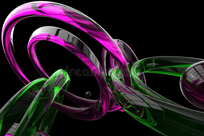 Abstract 3d rendered background stock illustration
