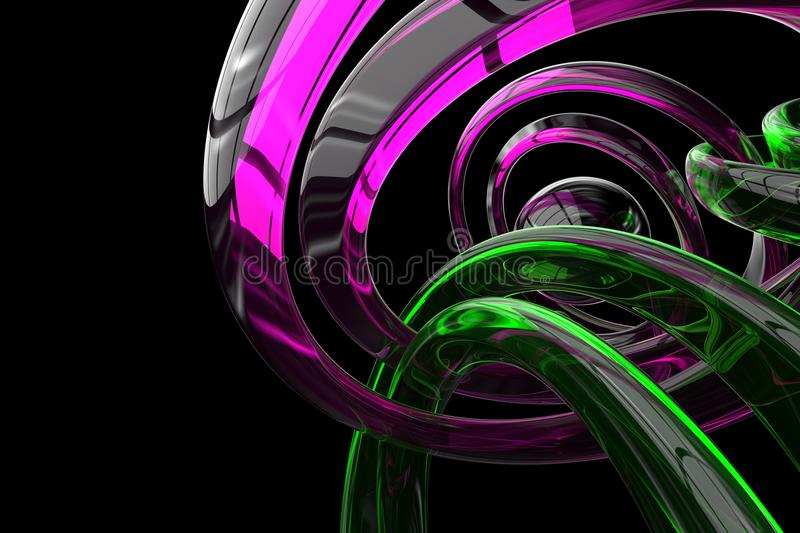 Abstract 3d rendered background royalty free illustration