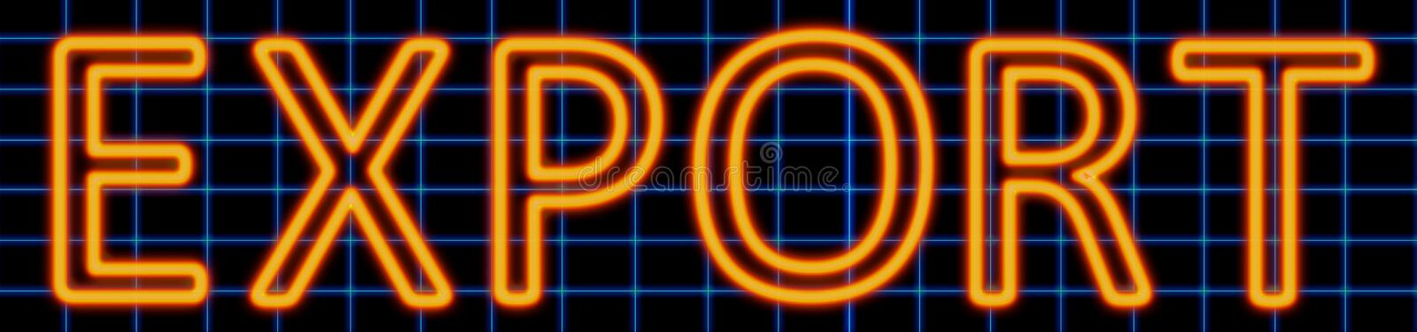 Export neon sign royalty free illustration