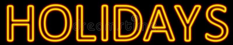 Holidays neon sign vector illustration