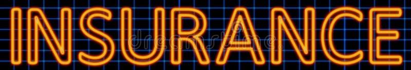 Insurance neon sign royalty free illustration
