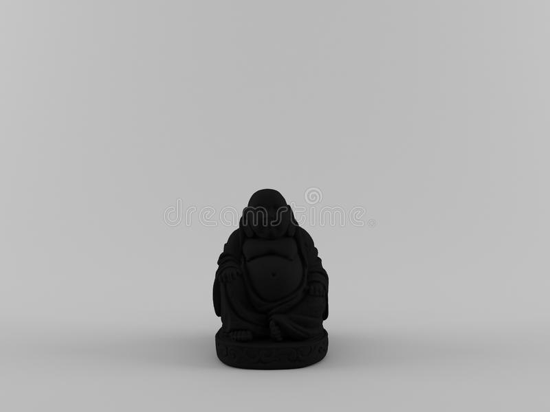 Abstract 3D Rendering Black Buddha With Clean Background. Creative designs for your art works vector illustration