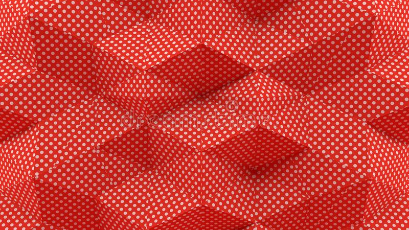 Abstract 3D Rendering Dots With Red Background vector illustration