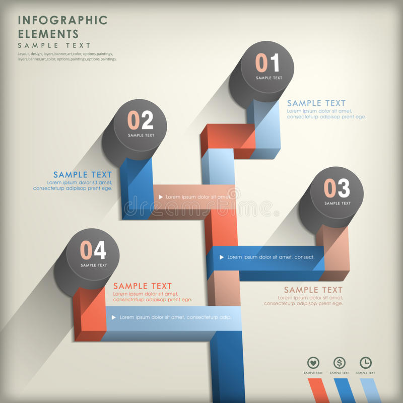 Abstract 3d Road Infographics Royalty Free Stock Image