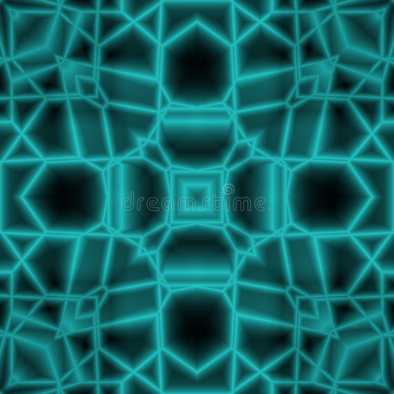 Abstract 3D Space Kaleidoscope Design stock illustration