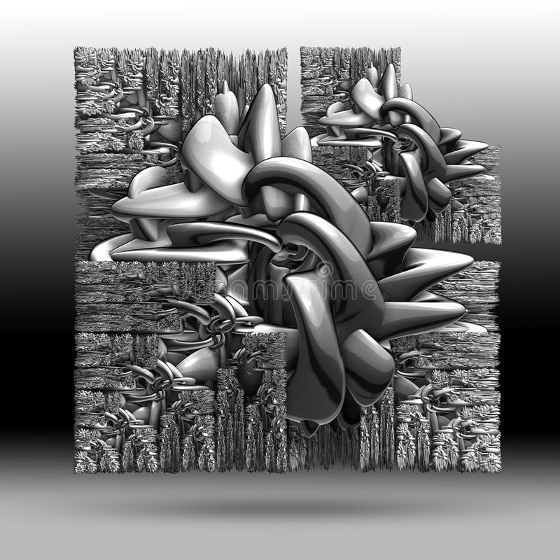 Abstract 3D textured object. For creative design stock illustration