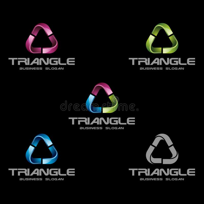 Abstract 3D Triangle Logo Template vector illustration