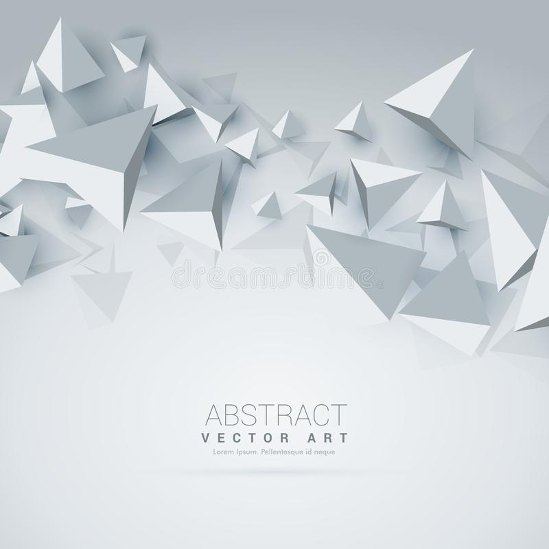 Abstract 3d triangle shapes background vector illustration