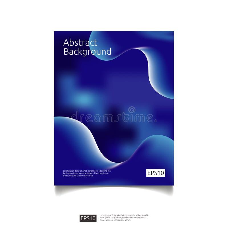 abstract 3d vloeibaar van de stroomkleur grafisch ontwerp als achtergrond De futuristische koele vloeibare vorm van de gradiëntsa vector illustratie