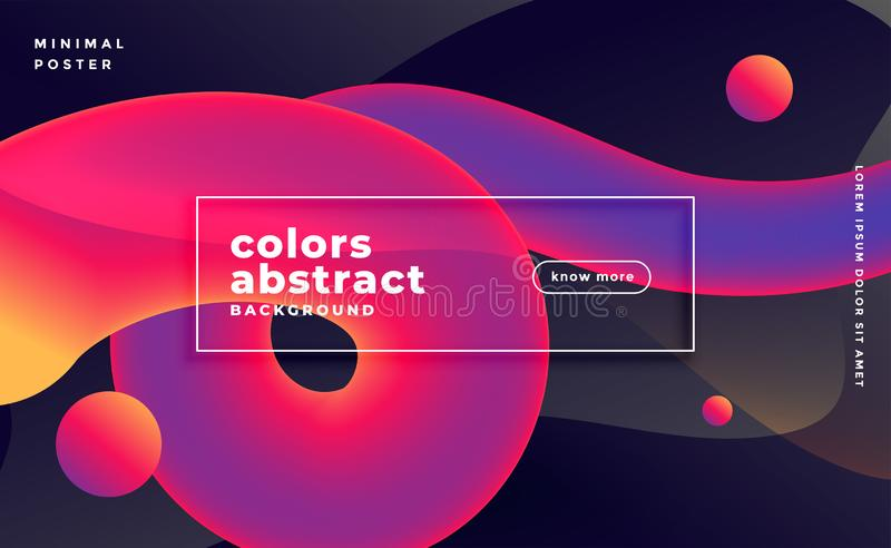 Abstract 3d wave fluid motion in vibrant colors royalty free illustration