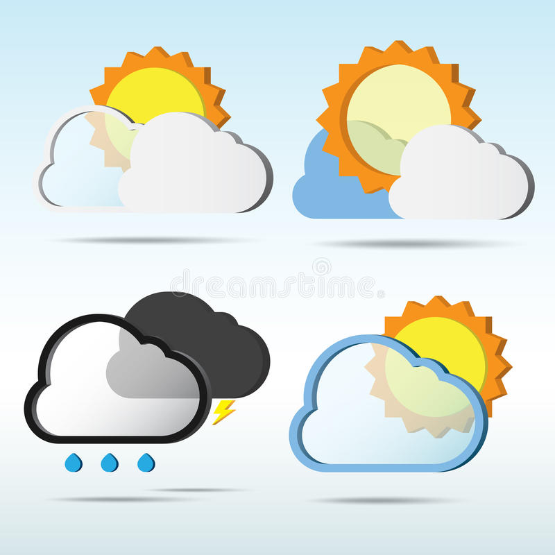 Abstract 3D weather speech bubble. royalty free illustration