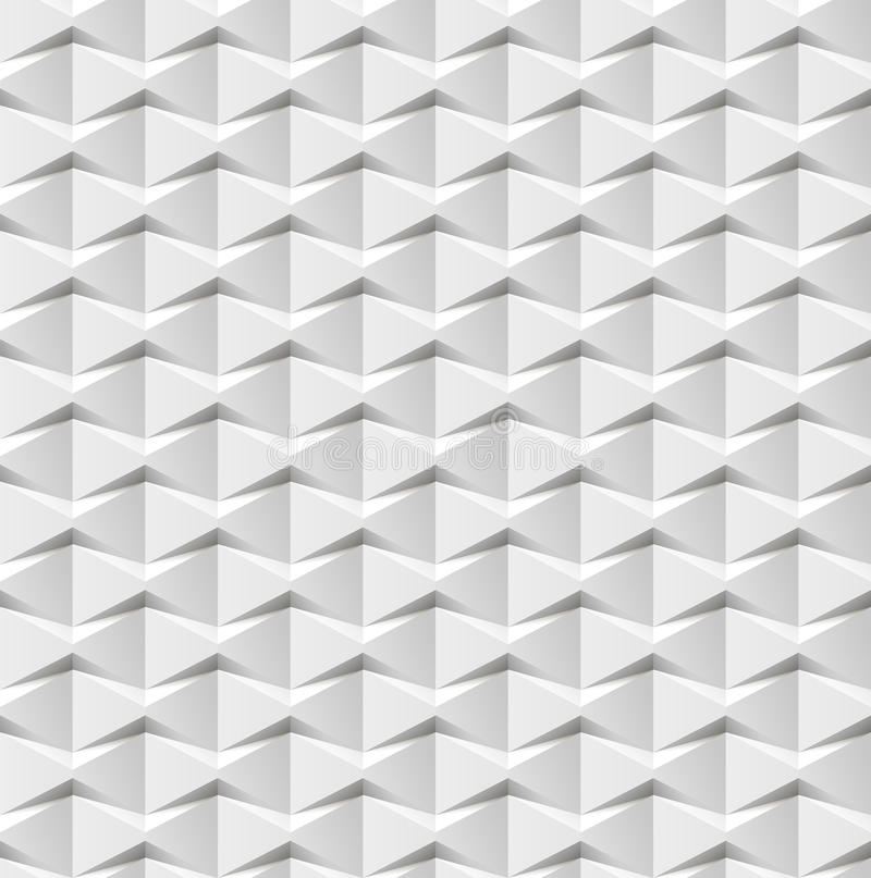Abstract 3d white geometric background. White seamless texture with shadow. Simple clean white background texture. 3D interior royalty free illustration