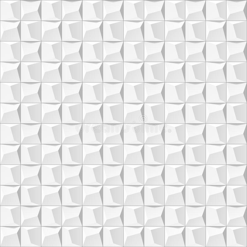 Abstract 3d White Geometric Background White Seamless